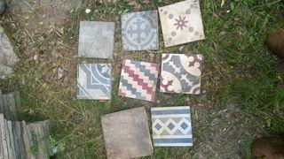 Baldosas losetas azulejos antiguos hidráulicos