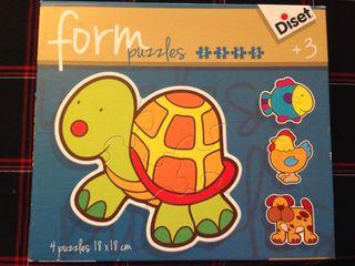 Puzzle formas animales 3+