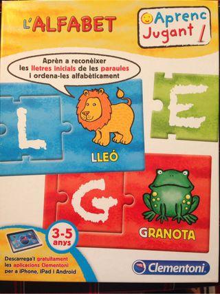 Juego alfabeto 3-5 años