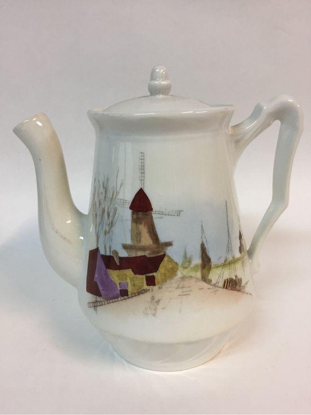 Cafetera retro porcelana
