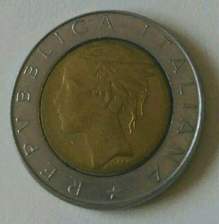 500 liras 1987 República Italiana