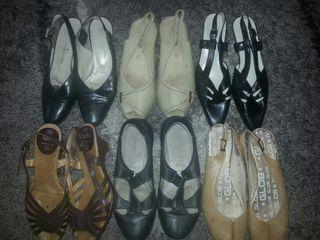 6 pares sandalias 36