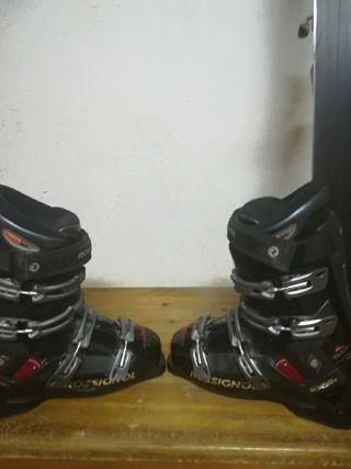 equipo de esquí botas y esquís