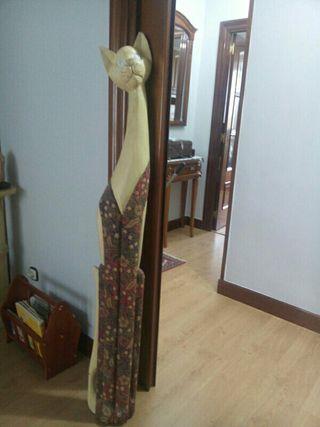 gato madera decoración