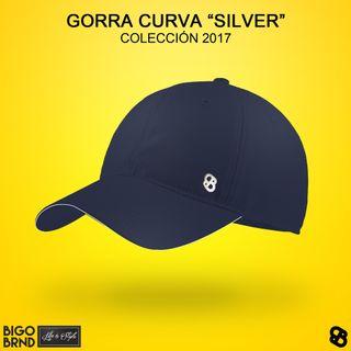 Gorra curva Silver azul marino BIGO BRND