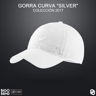 Gorra curva Silver blanca BIGO BRND