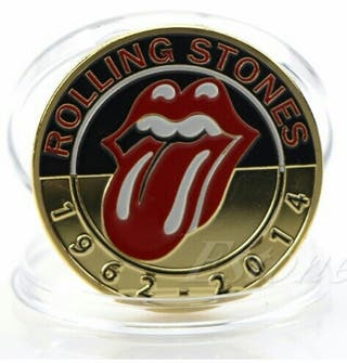 moneda rolling stones baño de oro