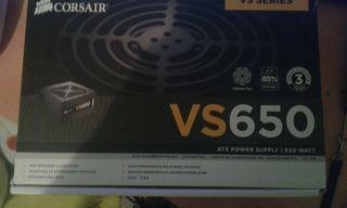 Fuente de alimentacion para pc corsair VS650