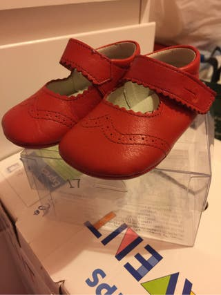Zapatos piel niña talla17