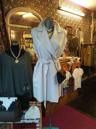 Chaleco vestido de lana beige by Max Mara