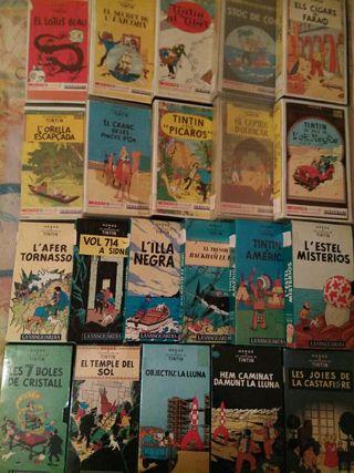 coleccion TINTIN (21 peliculas) en VHS