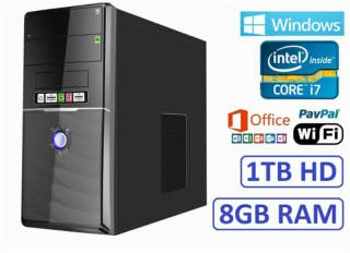 Ordenador PC Intel i7 8GB RAM 1TB HD