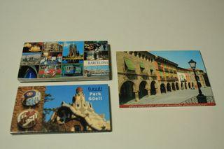 3 tiras de postales de Barcelona