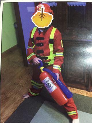 Disfraz bombero talla 10-12