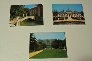 3 tiras de postales de Palacios de Madrid