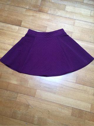 Falda de cintura alta