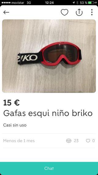 Gafas ventisca niño Briko