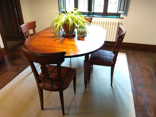 Mesa y sillas comedor de segunda mano por 205 en torrelavega en wallapop - Wallapop mesa comedor ...