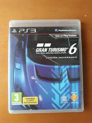Gran Turismo 6 Ps3 Edición 15 aniversario.