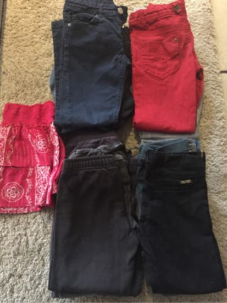 13 pantalones niña 7-9 años