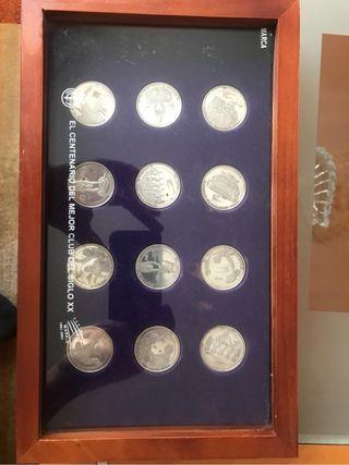 Monedas de plata REAL MADRID