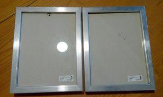 Marcos de fotos plateados
