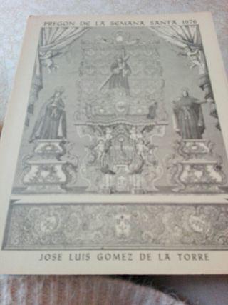 libro semana santa pregon 1976