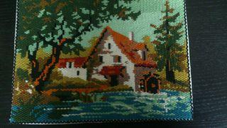 cuadro casa en el lago
