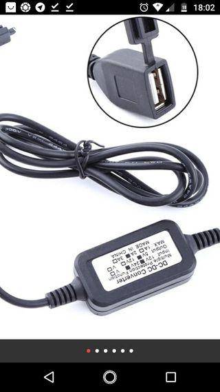 cargador 12v 24v 2A USB moto