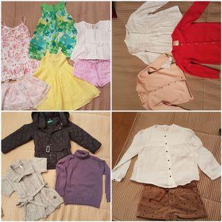 ropa niña Mayoral, Zara y Benetton