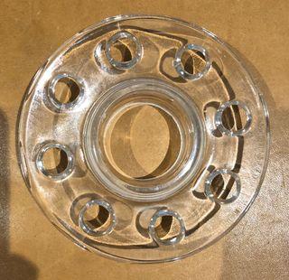 Pique fleur en verre Vintage