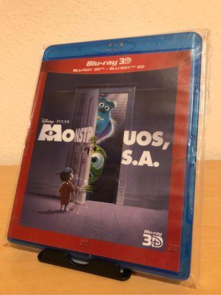 Bluray Monstruos S.A. 3D PRECINTADA