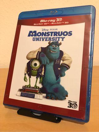 Bluray Monstruos University 3D PRECINTADA