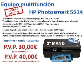 IMPRESORA FOTOGRÁFICA HP CONEXIÓN WIFI
