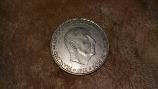 moneda de 100pesetas.franco.1966