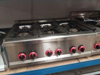 Cocina industrial 6 fuegos sobremesa