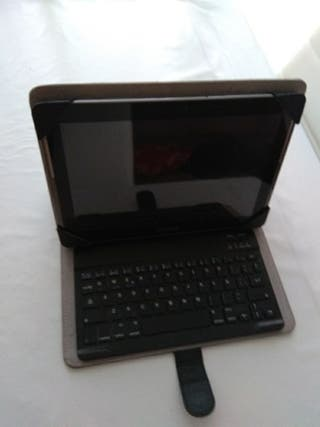 Samsung tab 2 con funda, teclado y lápiz