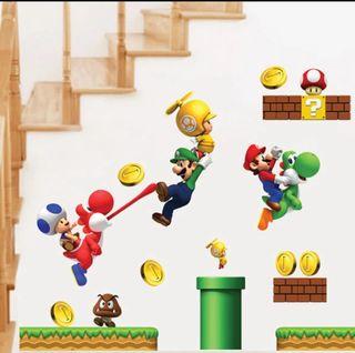 Pegatinas pared Mario Bros