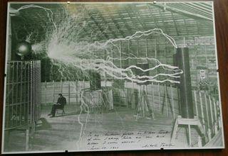 Cuadro Nikola Tesla 42x30