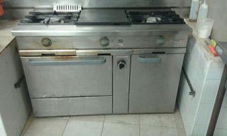 Cocina gas 3 fuegos con plancha y horno