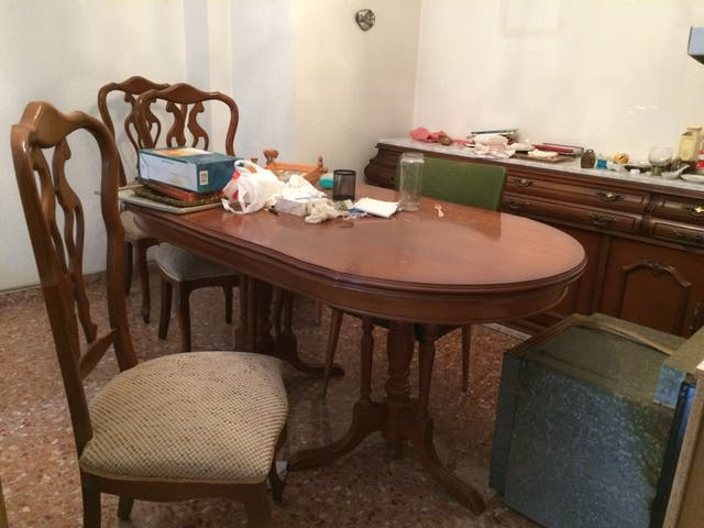 Mesa comedor vintage de segunda mano por 150 € en Valencia en WALLAPOP