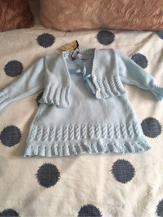 Vestido lana t 3-6 ,etiquetas