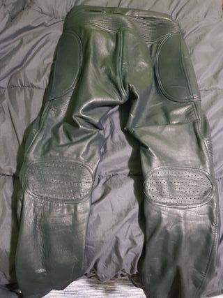 pantalon cuero moto