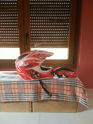 casco moto con gafas de regalo