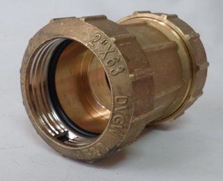 """Racor acoplamiento recto 2"""" ø63mm (2uds)"""