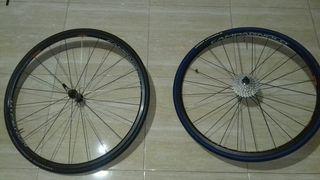Ruedas bicicleta de carbono