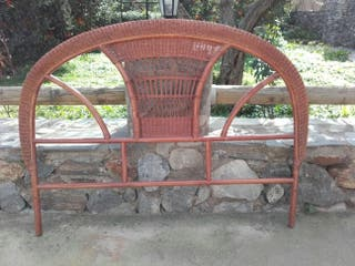 cabecero cama bambu indio