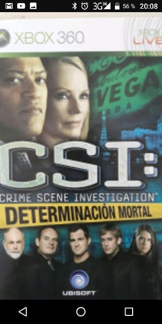 Juego xbox 360 CSI determinacion mortal