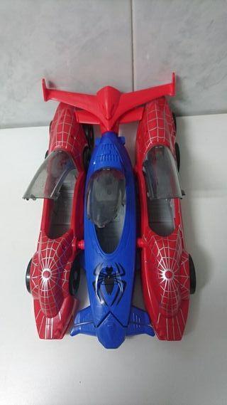 coche spiderman lanza misiles