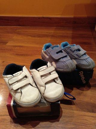 lote dos pares zapatillas reebook bebe